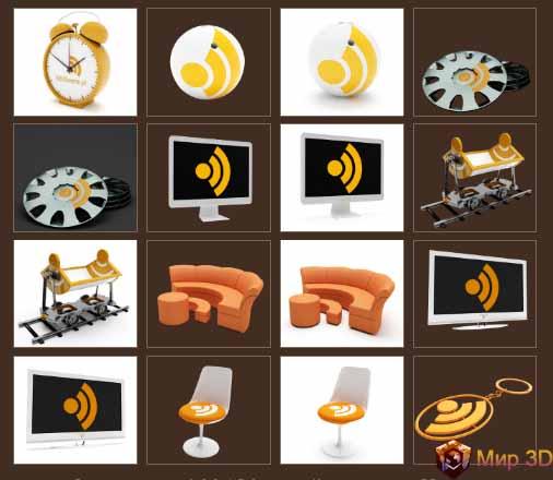 3D RSS иконки