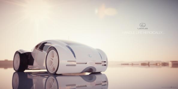 Lexus концепт в 3D