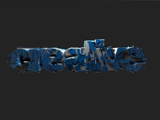 3d типография эффекты