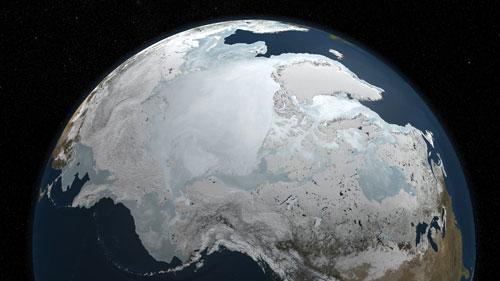 Льды Северного Ледовитого океана 3D