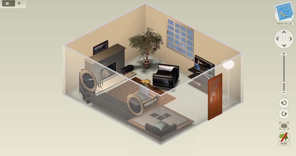 Дизайн комнаты редактор