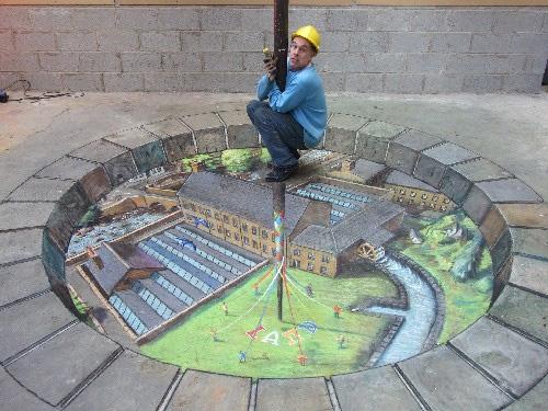 3D на асфальте