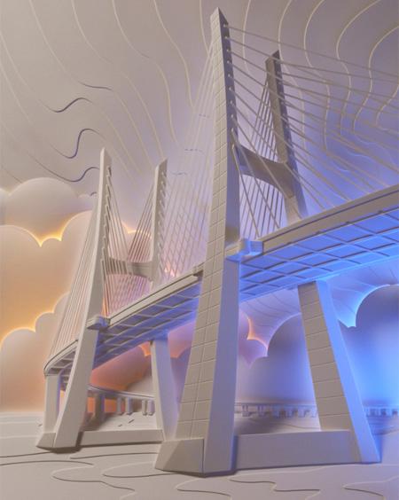 Мост бумажный